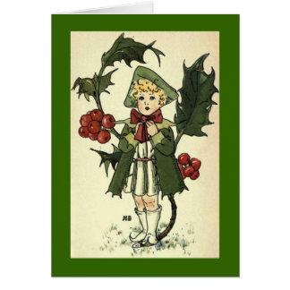 Tarjeta de Cuties del jardín del vintage
