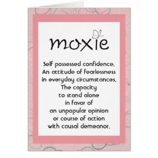 Tarjeta de definición del Moxie