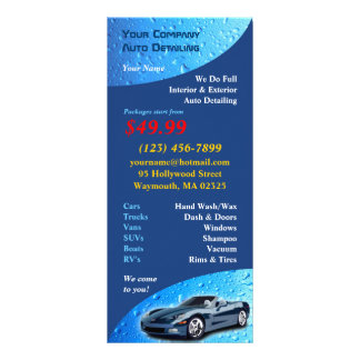 Tarjeta de detalle auto del estante lona publicitaria
