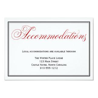 """Tarjeta de detalle blanca negra roja de los invitación 3.5"""" x 5"""""""
