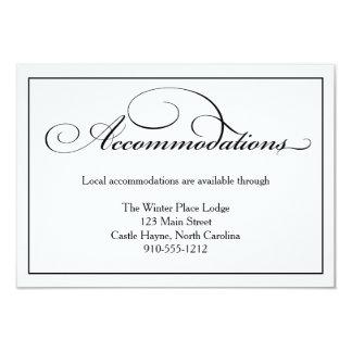 """Tarjeta de detalles de los alojamientos del boda invitación 3.5"""" x 5"""""""
