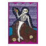 Tarjeta de Dia de Los Muertos Mermaid