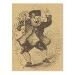 Tarjeta de dibujo temprana del St. Nick de Thomas  Tarjetas Postales