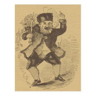 Tarjeta de dibujo temprana del St. Nick de Thomas Postal