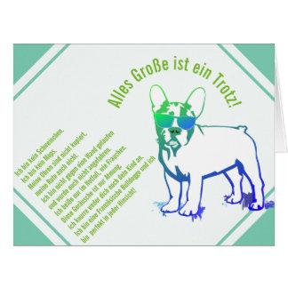 Tarjeta de dicho bulldog Francés