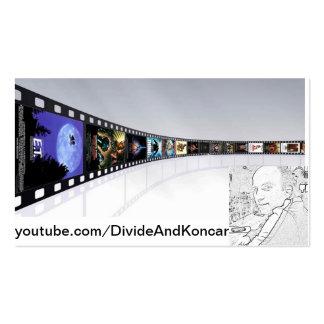 Tarjeta de DivideAndKoncar YouTube Plantillas De Tarjetas De Visita