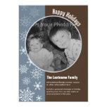 tarjeta de doble cara de la foto del día de fiesta invitaciones personalizada