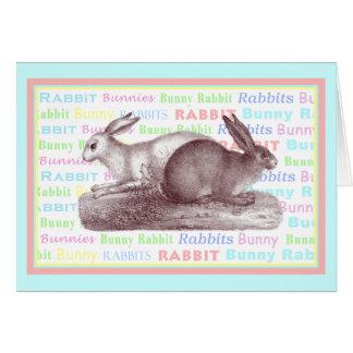Tarjeta de dos conejos - para los amantes del