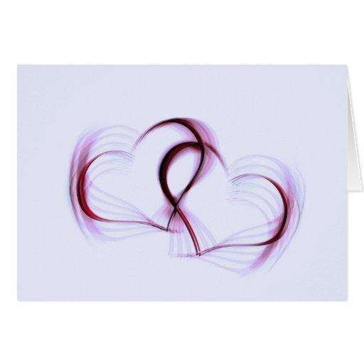 Tarjeta de dos corazones