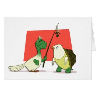 """Tarjeta de """"dos palomas de la tortuga"""" (espacio en"""