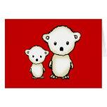 Tarjeta de dos pequeña osos polares