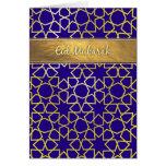 Tarjeta de Eid de la púrpura y de la oro-mirada de