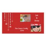 Tarjeta de encargo colgante de la foto de los copo tarjetas fotograficas personalizadas