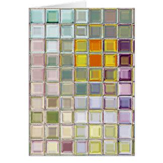 Tarjeta de encargo de cristal de las tejas de mosa