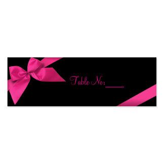 Tarjeta de encargo de la cinta del lugar rosado de tarjetas personales