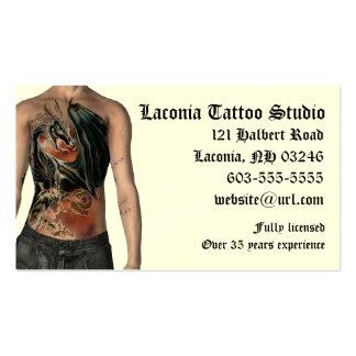 Tarjeta de encargo de la cita del estudio del tatu plantilla de tarjeta de negocio
