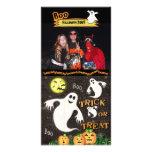 Tarjeta de encargo de la foto de Halloween Plantilla Para Tarjeta De Foto