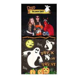 Tarjeta de encargo de la foto de Halloween Tarjeta Fotografica Personalizada