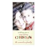 Tarjeta de encargo de la foto de las Felices Navid Tarjetas Personales