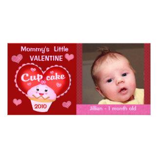 Tarjeta de encargo de la foto del bebé del el día  tarjeta fotografica