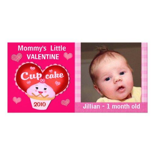 Tarjeta de encargo de la foto del bebé del el día  tarjeta fotográfica