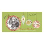 Tarjeta de encargo de la foto del día de fiesta de tarjetas con fotos personalizadas