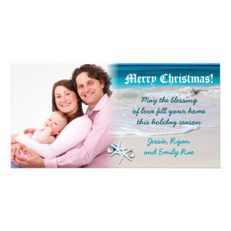 Tarjeta de encargo de la foto del navidad de la pl tarjeta fotográfica
