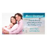 Tarjeta de encargo de la foto del navidad de la tarjeta fotográfica