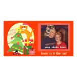Tarjeta de encargo de la foto del navidad del aman tarjeta personal