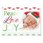 Tarjeta de encargo de la foto del navidad del amor invitación 12,7 x 17,8 cm