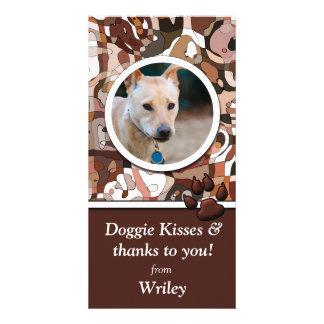Tarjeta de encargo de la foto del perro de la mara tarjetas personales con fotos