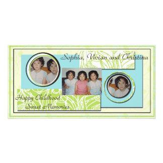 Tarjeta de encargo de la foto para 3 fotos tarjetas fotograficas personalizadas