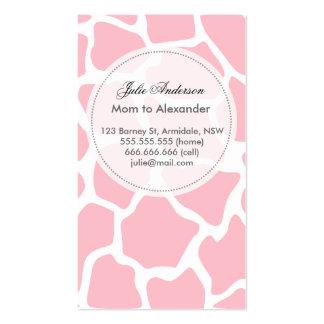 Tarjeta de encargo de la mamá de la jirafa tarjetas de visita