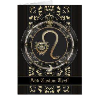 Tarjeta de encargo de la muestra del zodiaco de