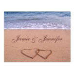 Tarjeta de encargo de la playa postales