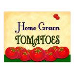 Tarjeta de encargo de la receta del tomate de postal
