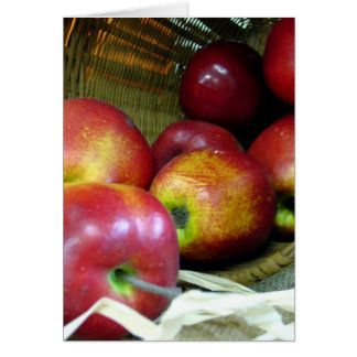 Tarjeta de encargo de las manzanas