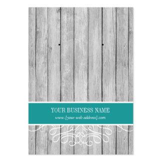 Tarjeta de encargo de madera rústica del pendiente tarjetas de visita grandes