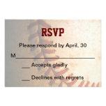 Tarjeta de encargo de Mitzvah RSVP de la barra del Invitacion Personalizada