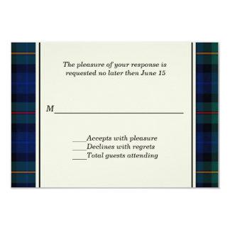 Tarjeta de encargo de RSVP de la tela escocesa de Invitación 8,9 X 12,7 Cm