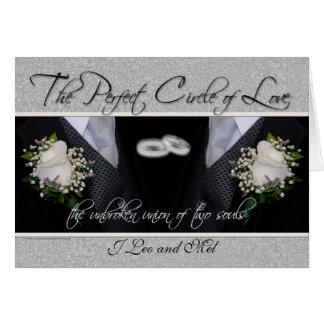Tarjeta de encargo del boda gay/de la unión civil