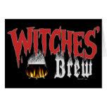Tarjeta de encargo del Brew de las brujas