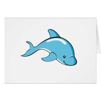 Tarjeta de encargo del color del delfín