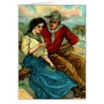 Tarjeta de encargo del cortejo del vaquero