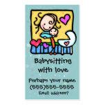 Tarjeta de encargo del cuidado de niños de la nin@ tarjeta de visita
