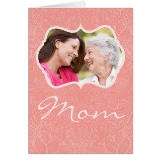 Tarjeta de encargo del día de madre de la foto