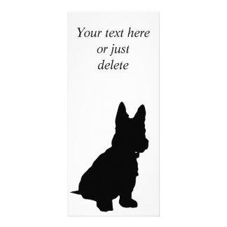 Tarjeta de encargo del estante del terrier de la plantillas de lonas