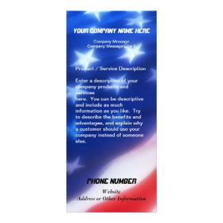 Tarjeta de encargo del estante, diseño patriótico lonas