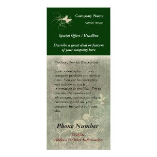 Tarjeta de encargo del estante, diseño verde plantillas de lonas