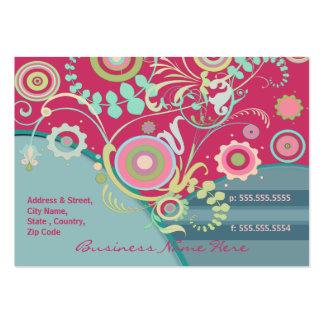 Tarjeta de encargo del florista del otro sector tarjeta de negocio